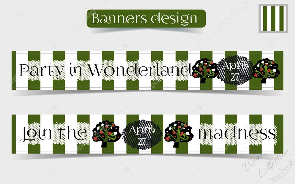 Banners Party in Wonderland - Tree from Forest