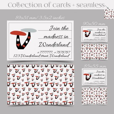 Cards Templates - Mushroom from Wonderland.