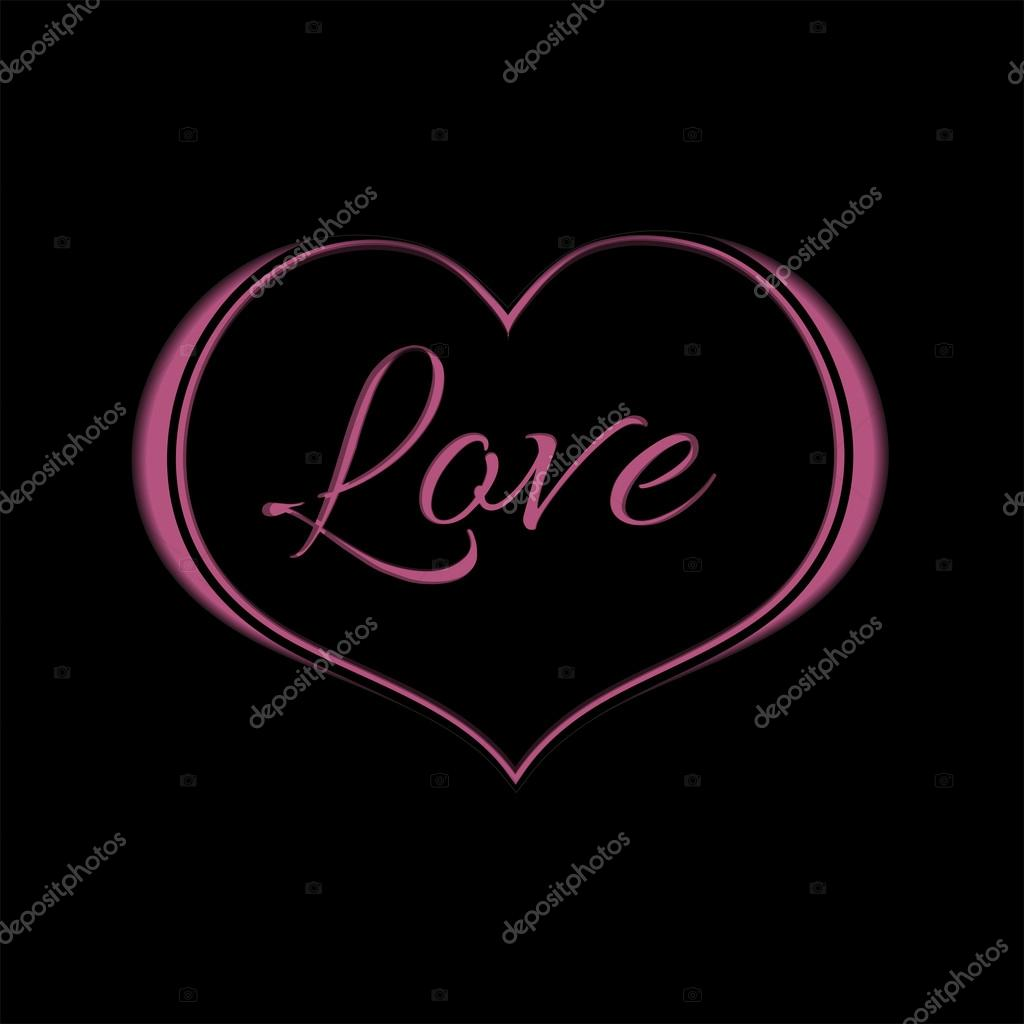 Pink Hearts With Black Background