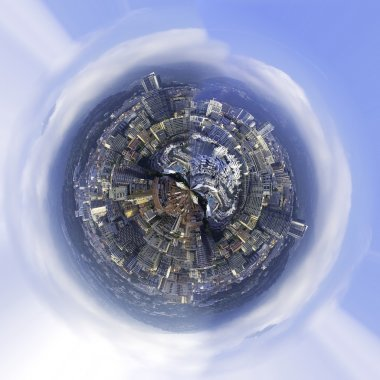 Abstract city world. Color image