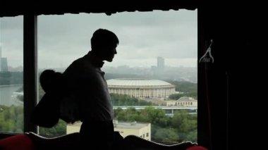 un Sagoma uomo giacca di indossare sul la di balcone wg1rnq5w