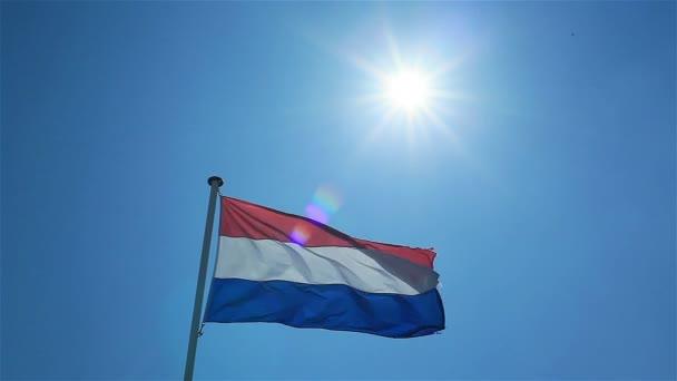 Vlajka Nizozemska mávat ve větru