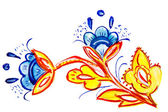Ilustrace z fantastické květy a listy