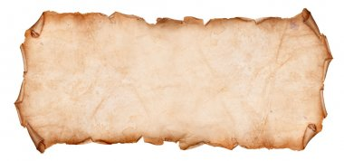 Old Torn Paper Scroll Isolated on a White Background