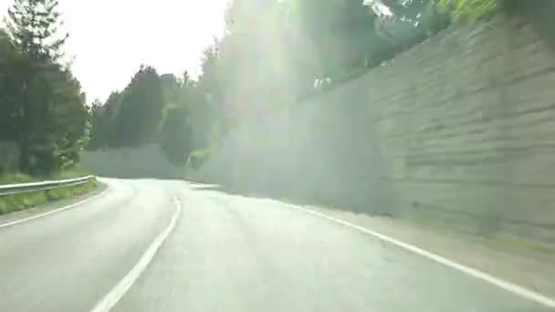 Driving fast on highway