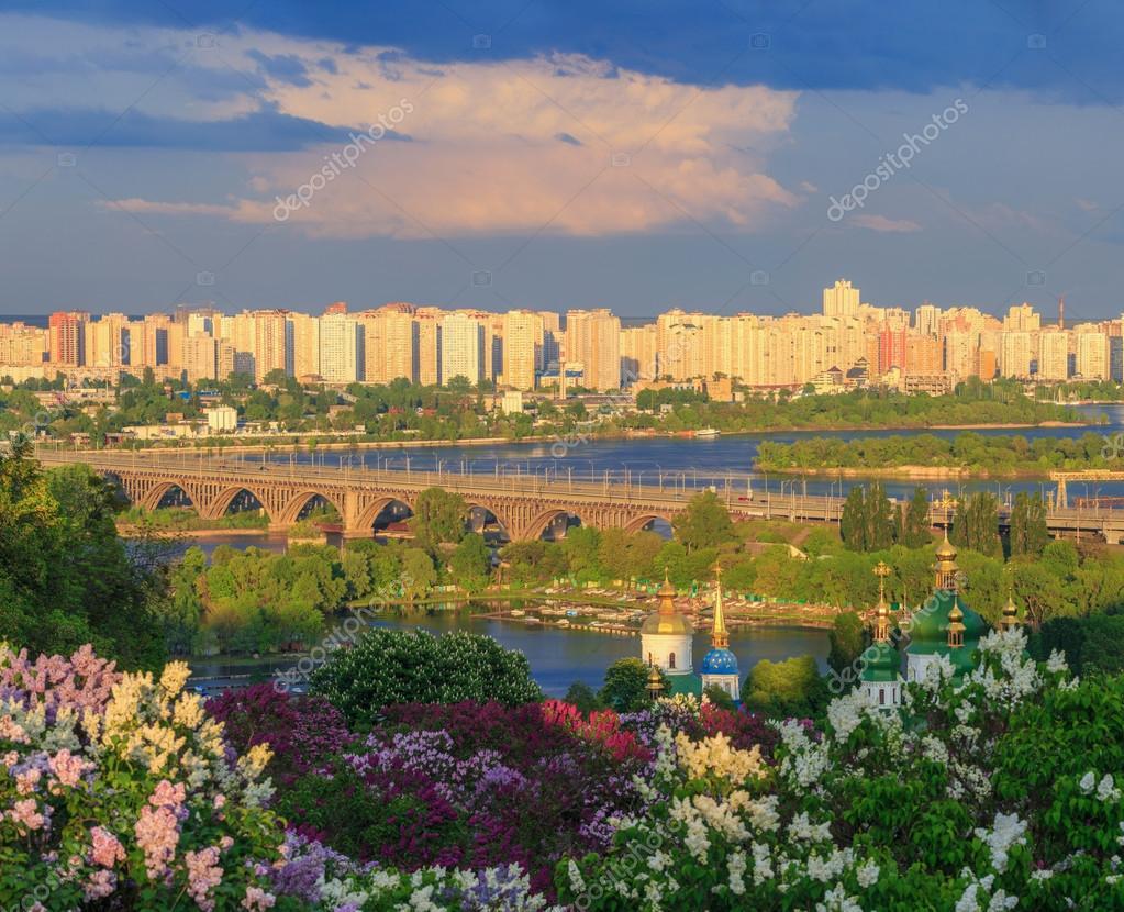 Sunset in Kiev City