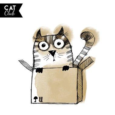 watercolor  cat character