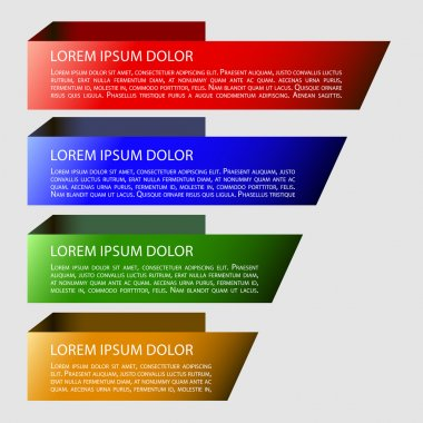 Origami style 3d infographic elements