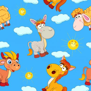 Cartoon  animals pattern