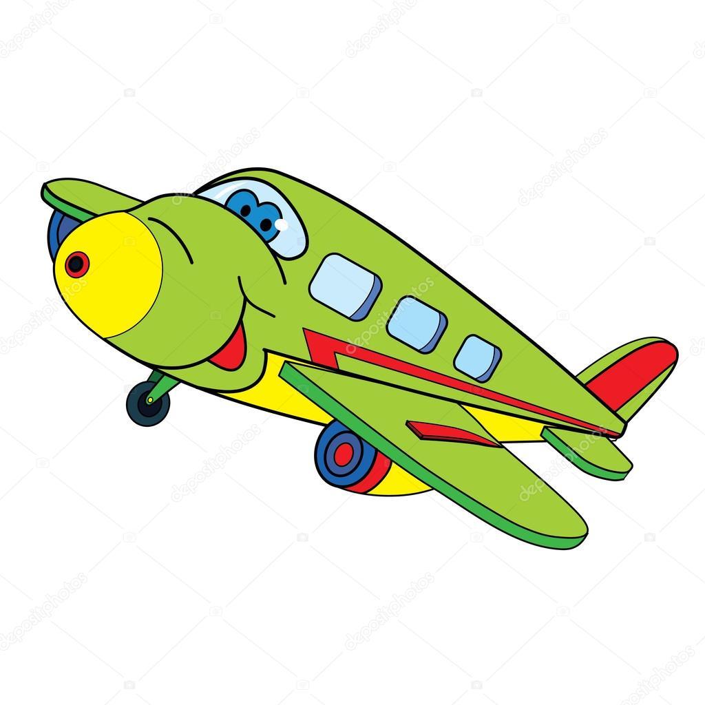 Avion de couleur dessin anim image vectorielle - Avion en dessin ...