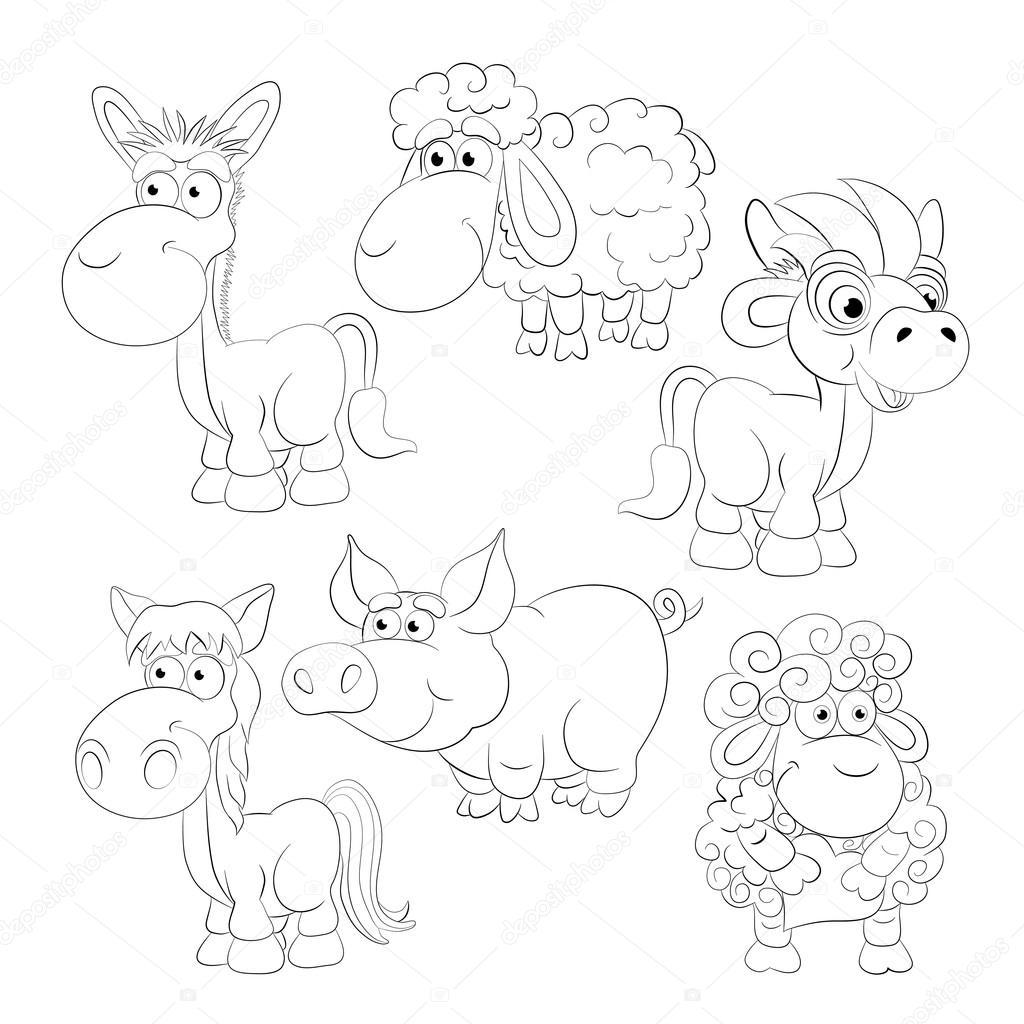 Cartoon-Tiere-set — Stockvektor © vitasunny #64507479
