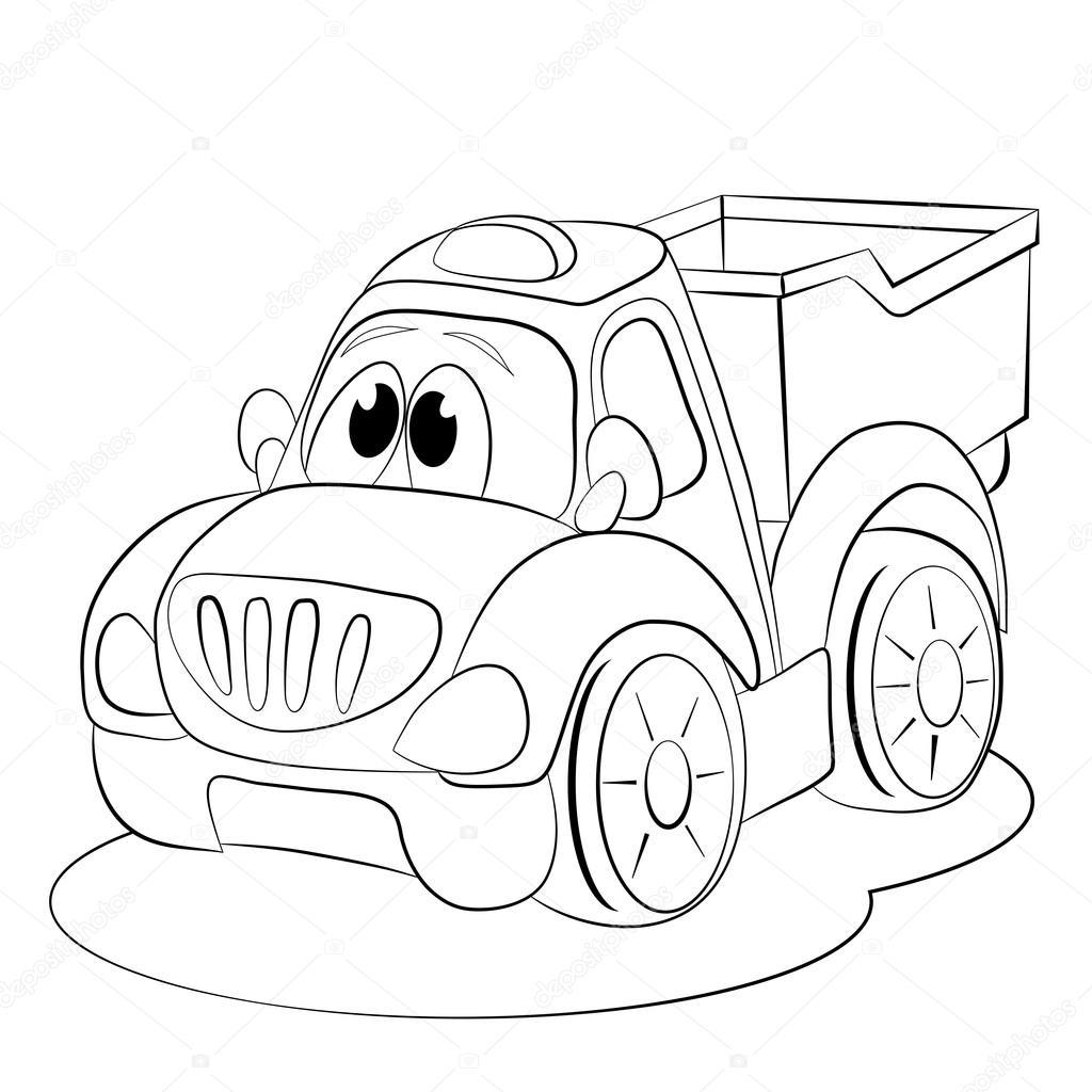 Cartoon coche divertido camión — Archivo Imágenes Vectoriales ...