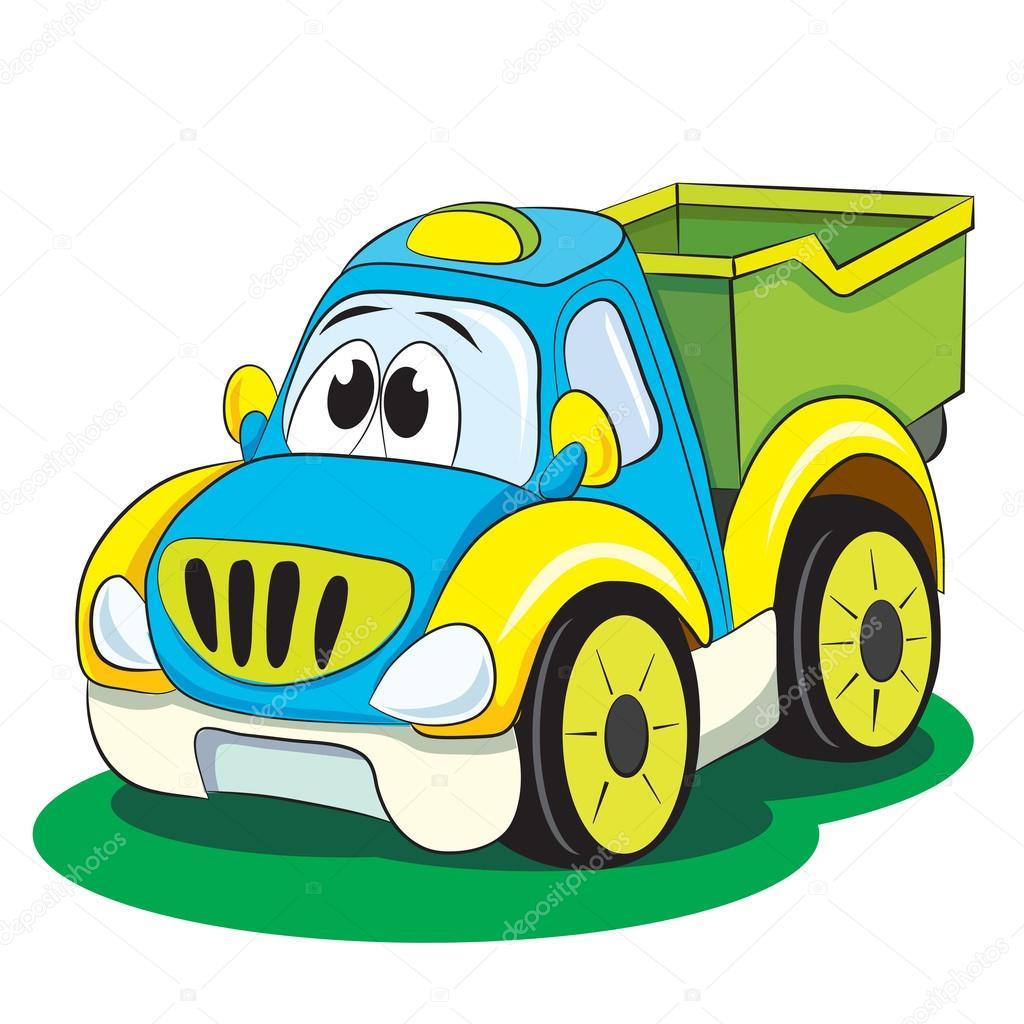 Dessin Animé Drôle De Voiture Camion Image Vectorielle