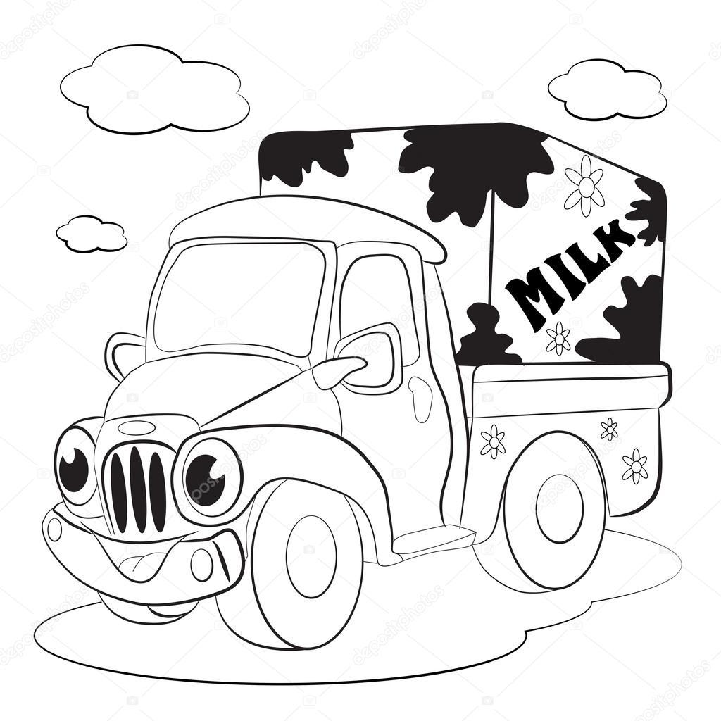 Coche del carro de transporte de leche — Archivo Imágenes ...