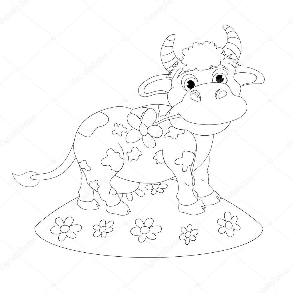 Cartoon funny cow — Stock Vector © vitasunny #64594219