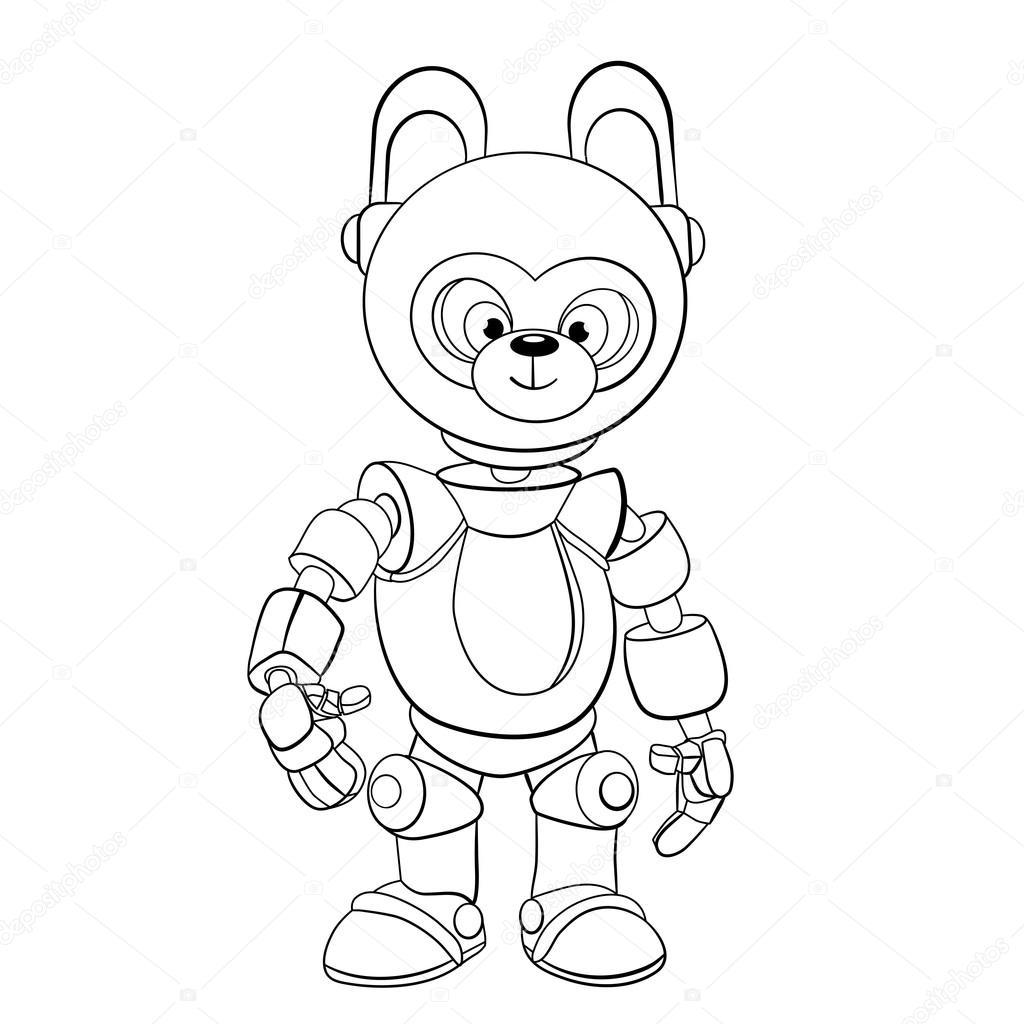Pequeño conejo es robot — Vector de stock © vitasunny #64621003