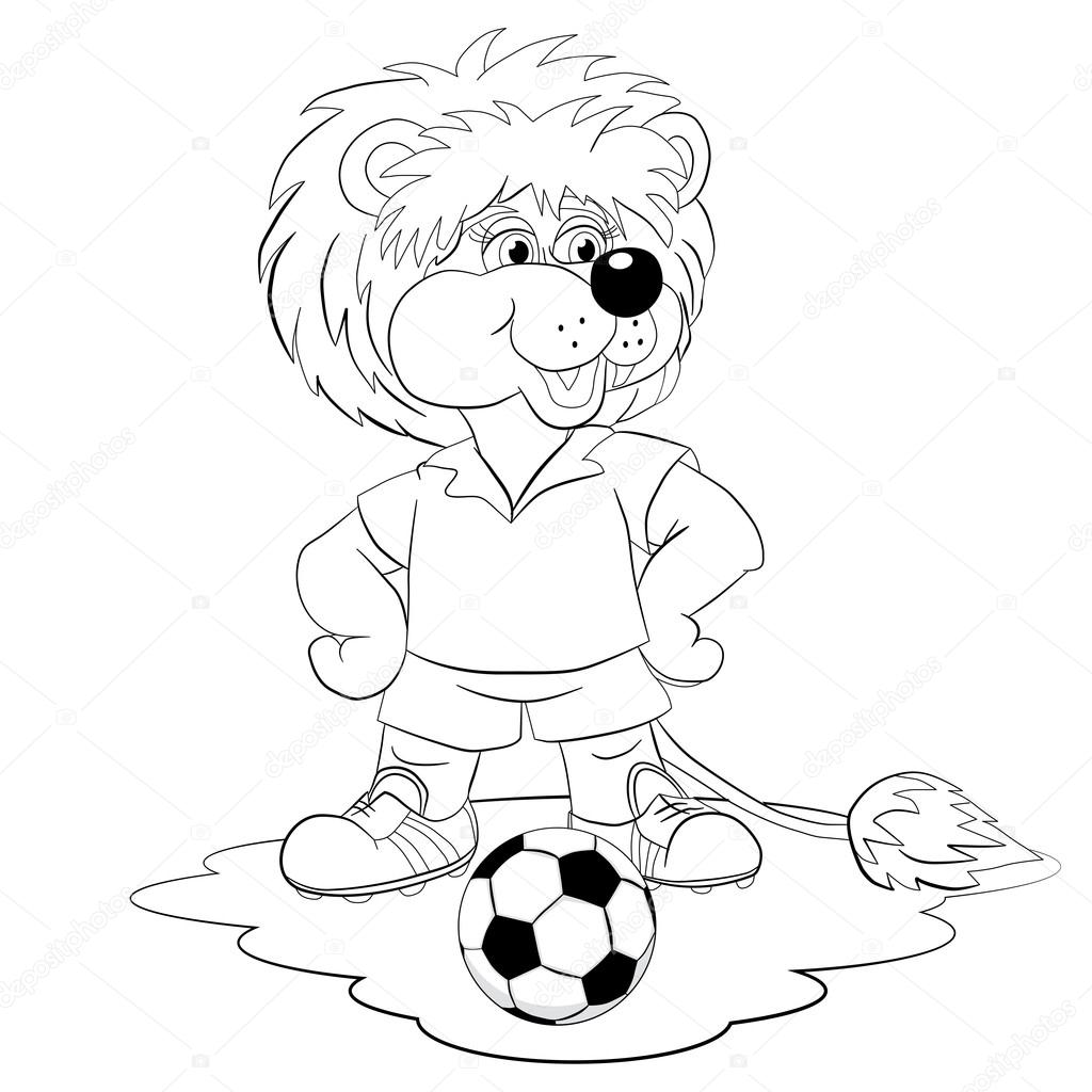 Dibujos Niños Jugando Futbol Para Colorear Jugador De Fútbol León
