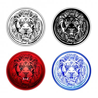Lion icons set