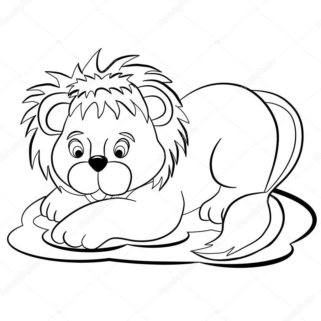 Cachorro de León de la historieta — Archivo Imágenes Vectoriales ...