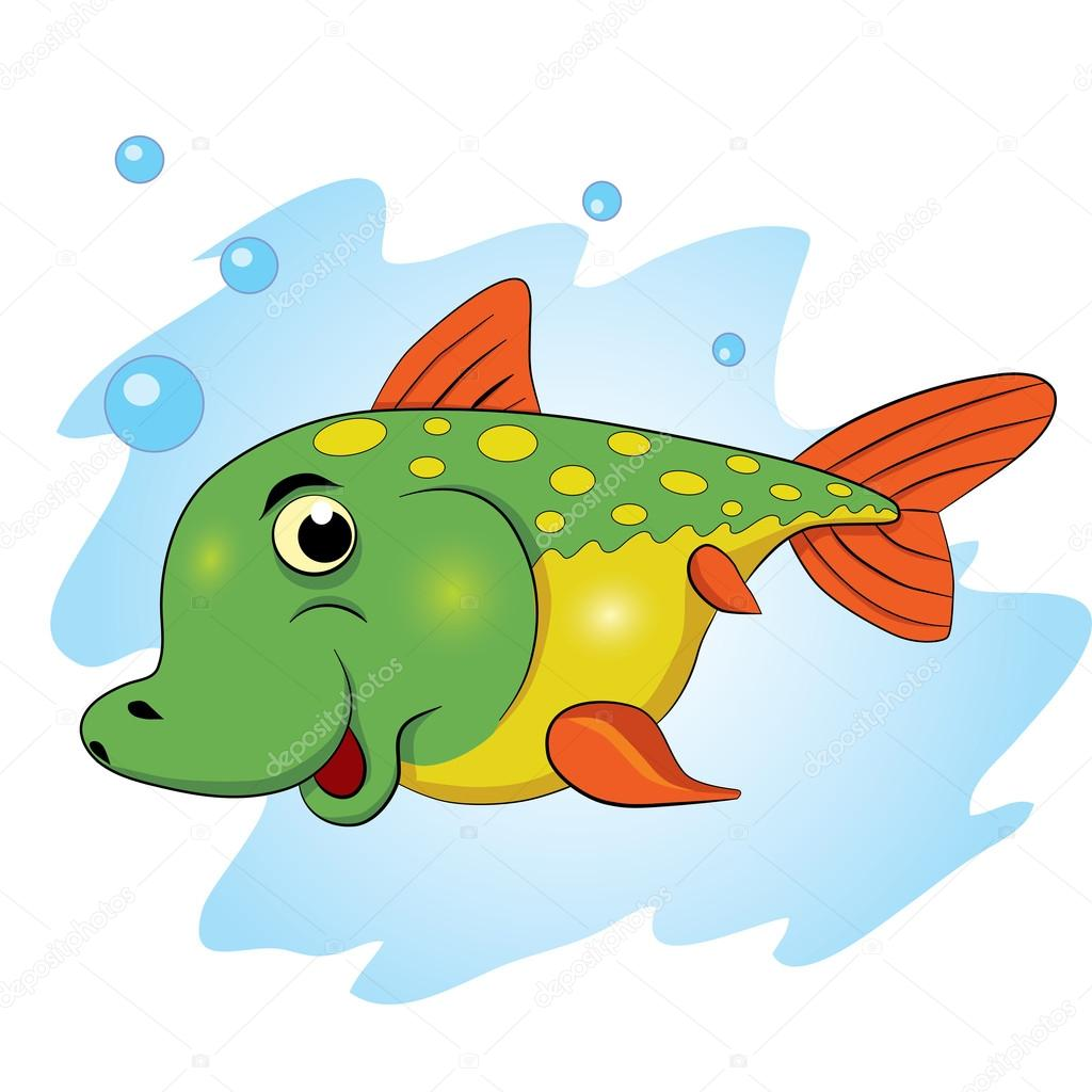 Cartoon smiling fish — Stock Vector © vitasunny #64631019