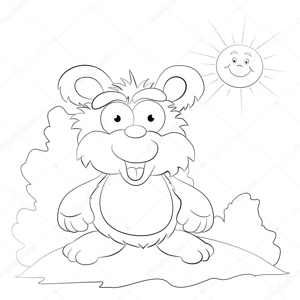 Cartoon merry bear