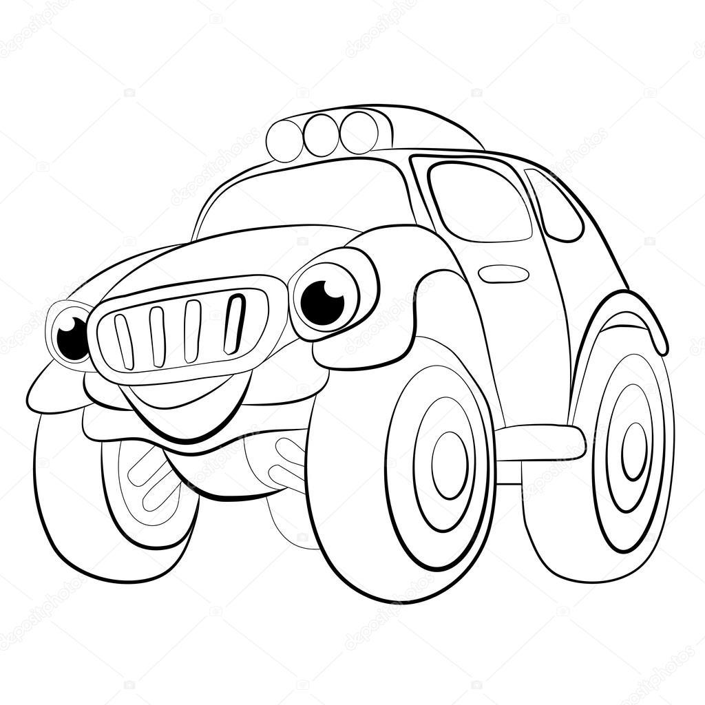 Fumetto Di Natale Auto Jeep Vettoriali Stock Vitasunny