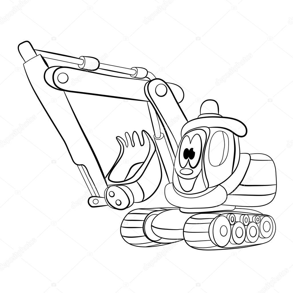 Dessin anim de joyeux pelle m canique image vectorielle vitasunny 64667673 - Pelle mecanique dessin anime ...