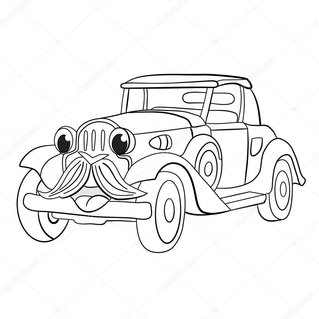 Kresleny Vesele Bederni Retro Auta Stock Vektor C Vitasunny 64670121