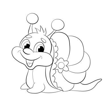 Cartoon funny snail.