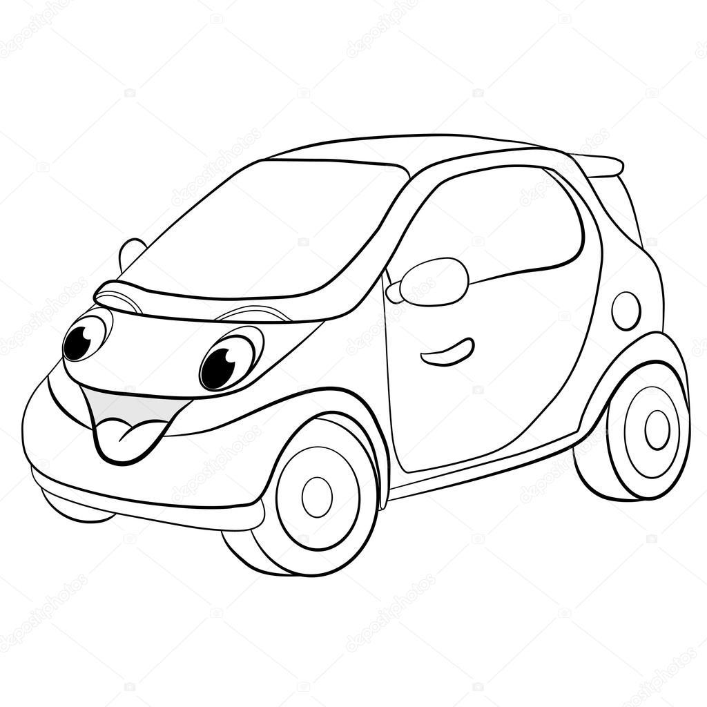 Mini coche de dibujos animados — Vector de stock © vitasunny #64820359