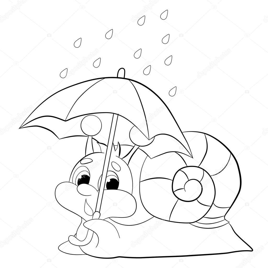 Escargot Drole De Dessin Anime Image Vectorielle Vitasunny C 64821897