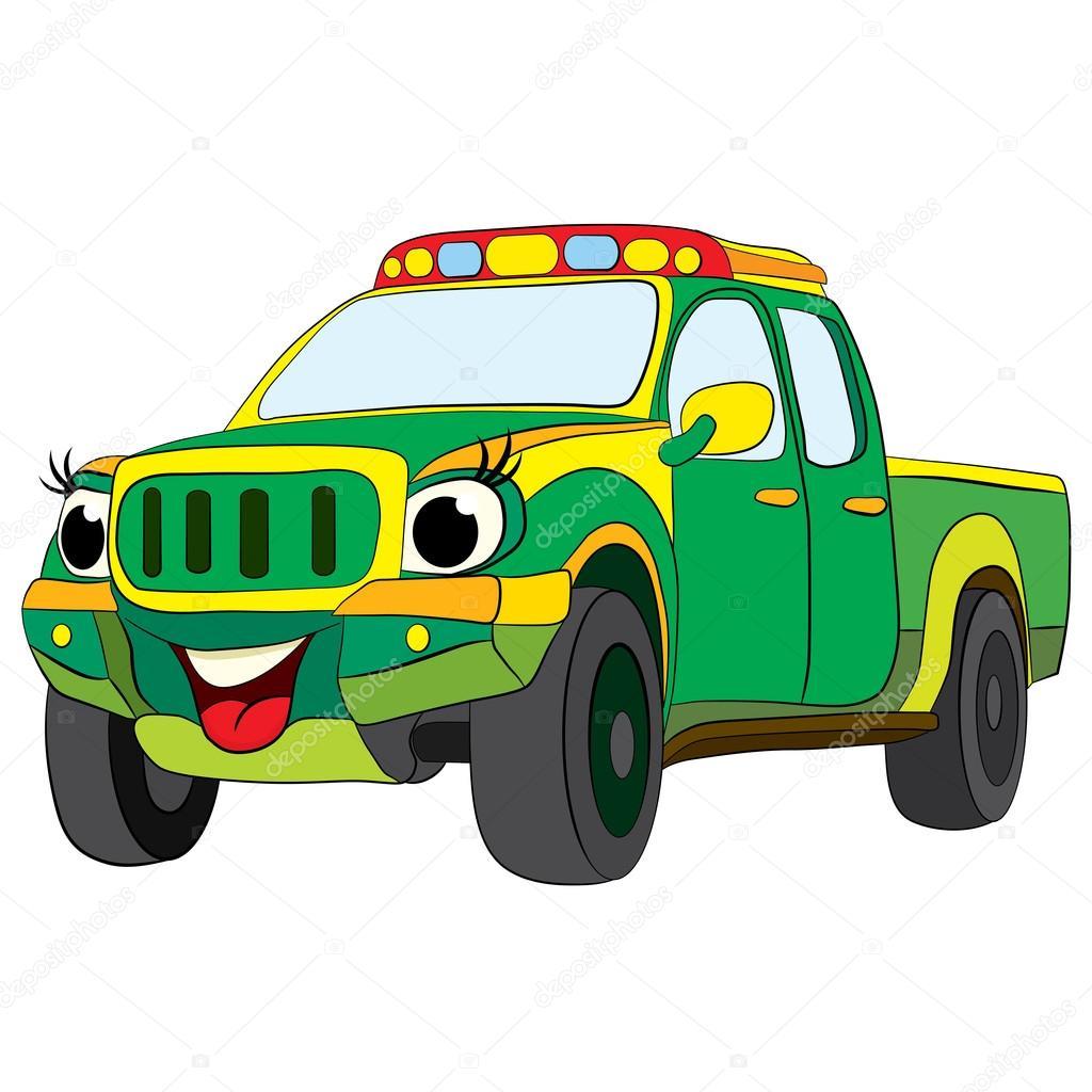 Imágenes Camionetas Animados Dibujos Animados De Feliz
