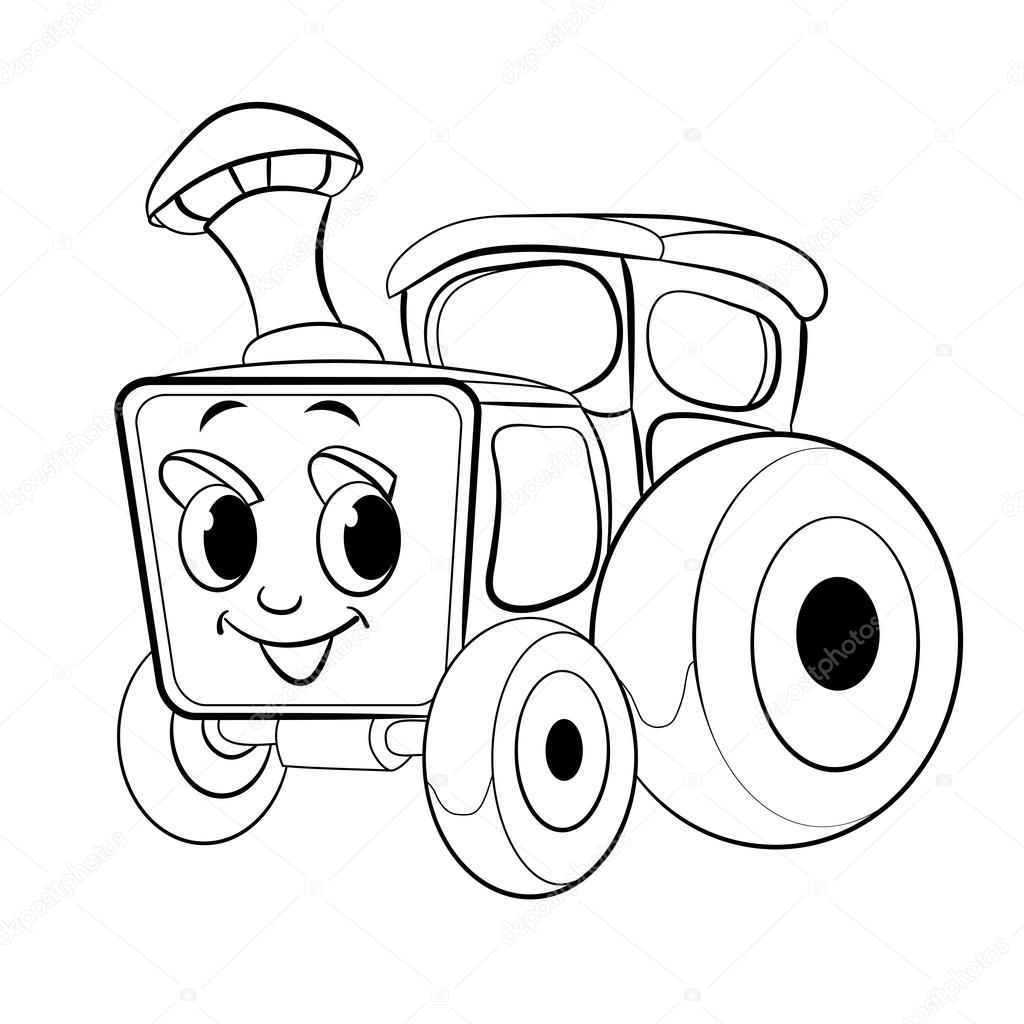 Kresleny Vesele Traktoru Stock Vektor C Vitasunny 64856889