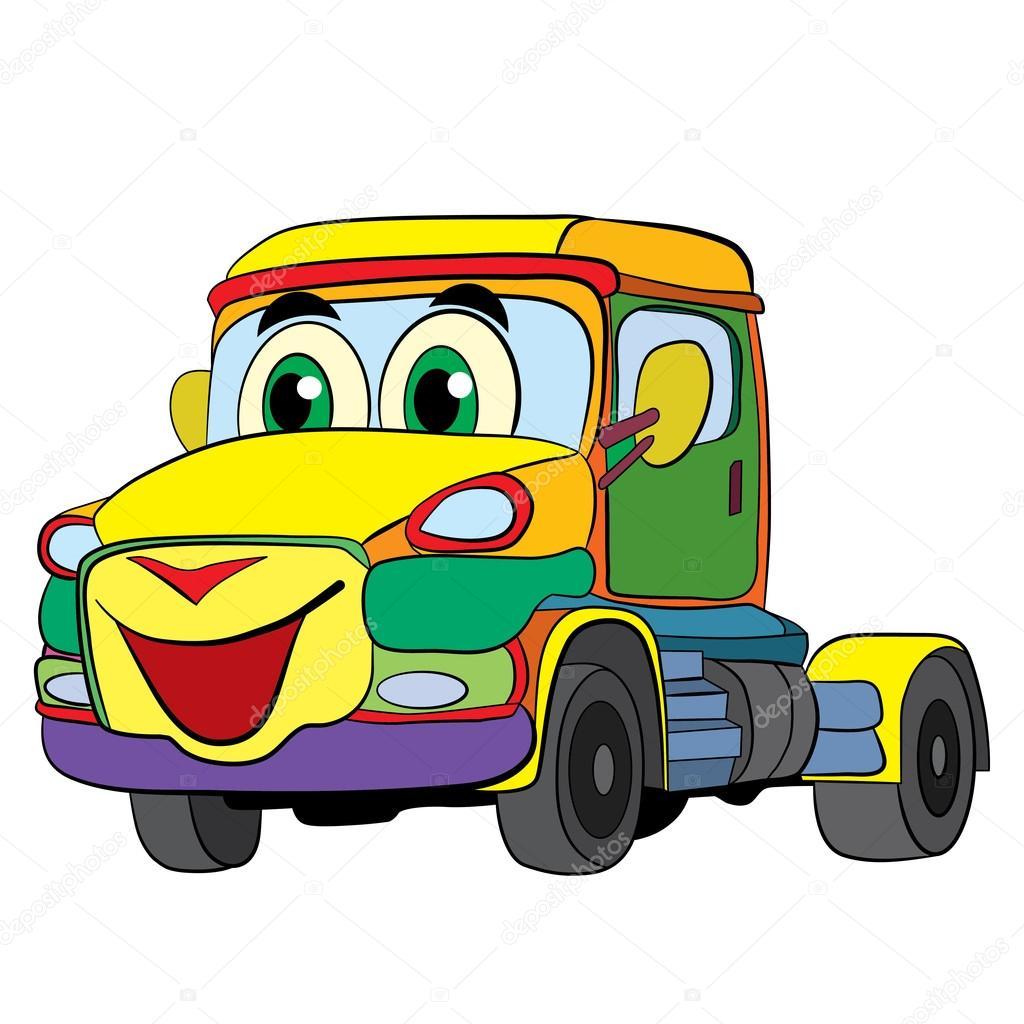 dessin anim de voiture camion image vectorielle vitasunny 64858165. Black Bedroom Furniture Sets. Home Design Ideas