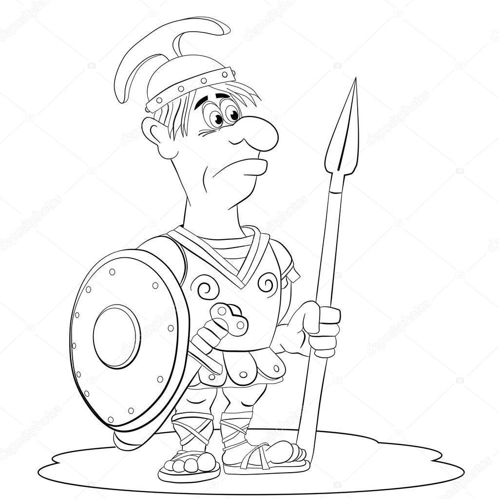 Legionario Romano Guerrero — Vector de stock © vitasunny #64861445