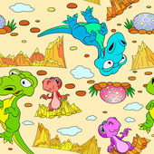 Photo Seamless pattern with dinosaurs