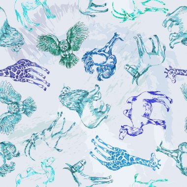 Seamless pattern from desert animals