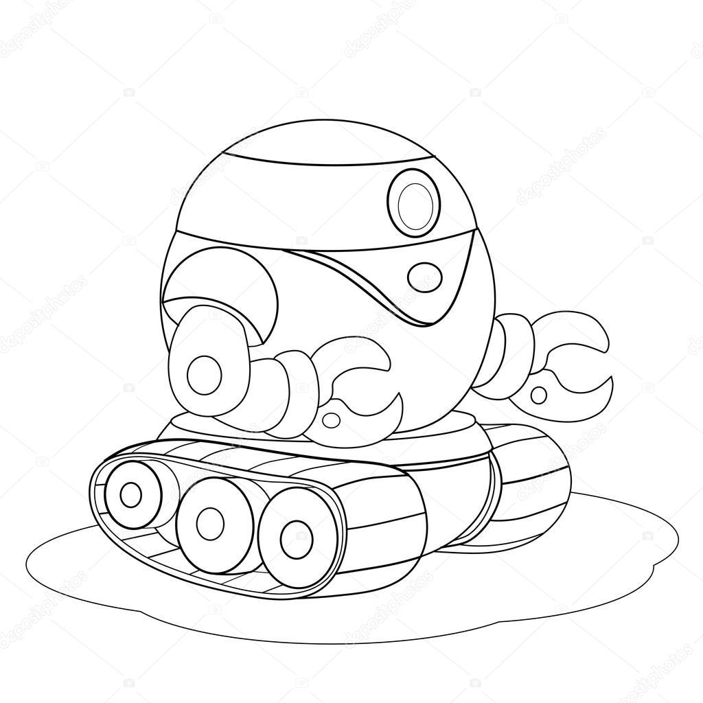 Animado Oruga Para Colorear Orugas De Robot De Dibujos Animados