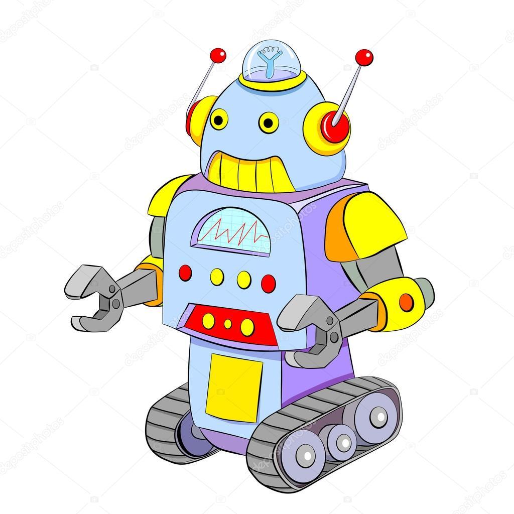 Crawler robot dei cartoni animati — vettoriali stock