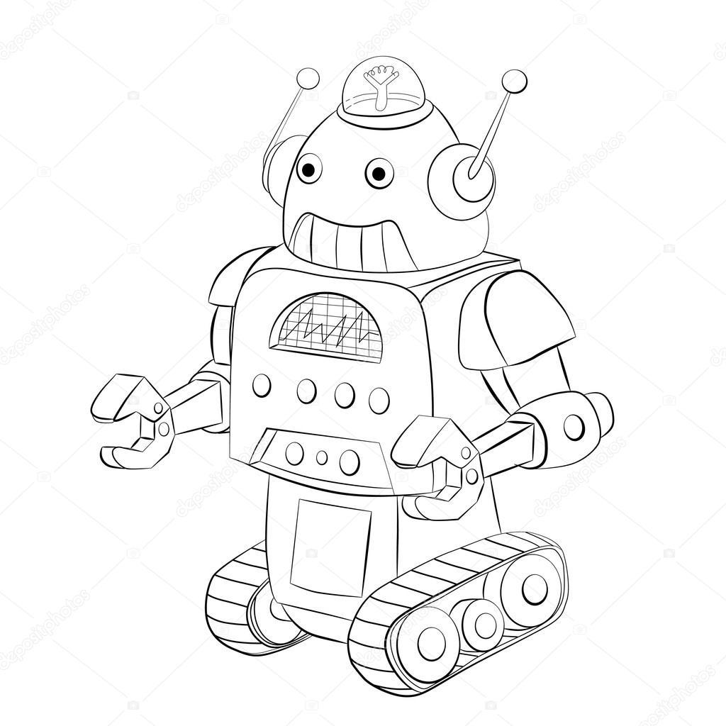 Orugas De Robot De Dibujos Animados Vector De Stock Vitasunny