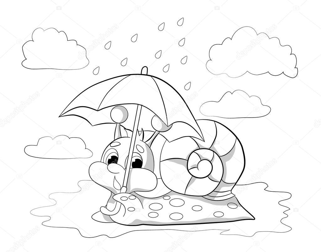 Caracol Divertido Dibujos Animados