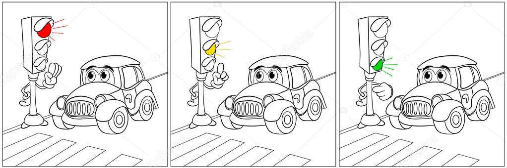 Reglas de diversión en el semáforo — Vector de stock © vitasunny ...