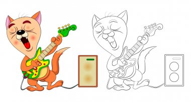 Funny cartoon cats singing