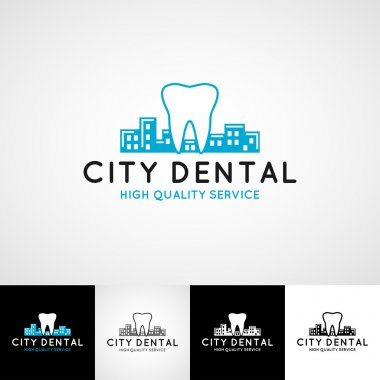 Dental logo template. Teethcare icon set. dentist clinic insignia, doctor practice sign, orthodontist illustration concept for stationary, tooth branding t-shirts picture, business card graphic
