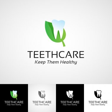 Creative dental logo template. Teethcare icon set. dentist clinic insignia, stomatologist practice illustration, teeth vector design, oral hygienist concept for stationary, tooth branding picture