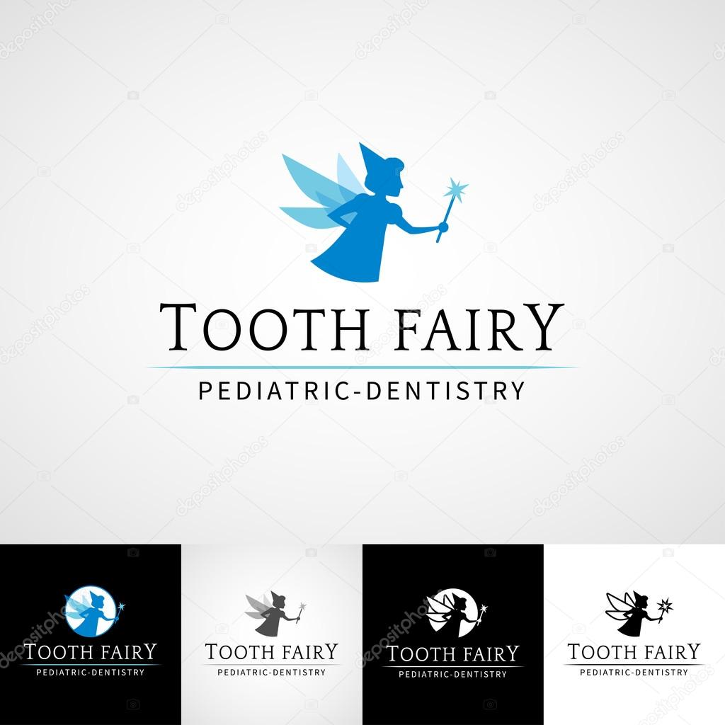 Tooth fairy dental logo template teethcare icon set dentist tooth fairy dental logo template teethcare icon set dentist clinic insignia orthodontist illustration pronofoot35fo Choice Image