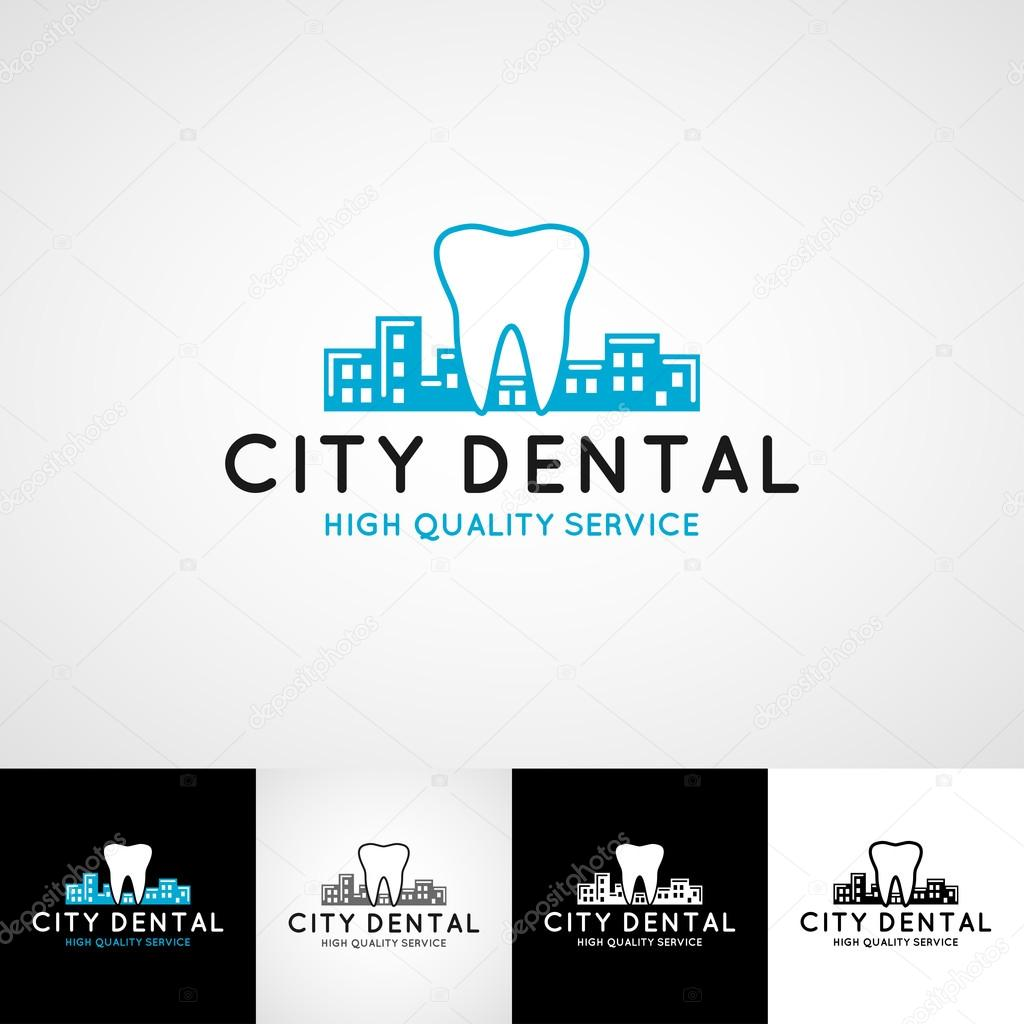 Dental logo template teethcare icon set dentist clinic insignia doctor practice sign orthodontist illustration concept for stationary tooth branding t shirts picture business card graphic vector by gromovpro magicingreecefo Images