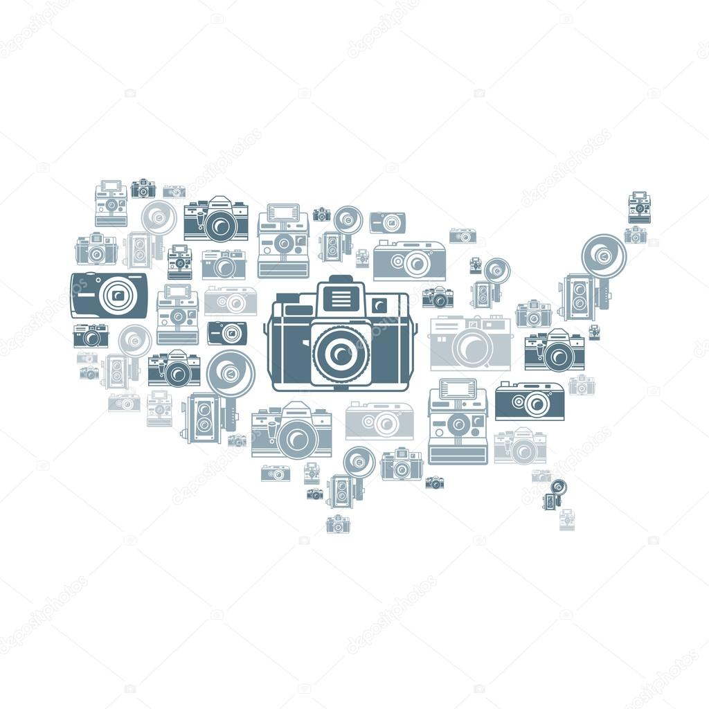 Hand drawn US map vector illustration — Stock Vector © gromovpro ...