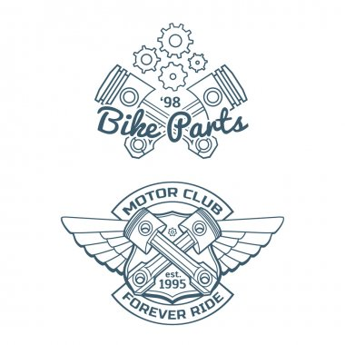 Set of biker vector badges