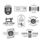 Fotografie Set of vintage tailor labels, emblems and design elements. Tailor shop logo vector. sewing stodio illustration